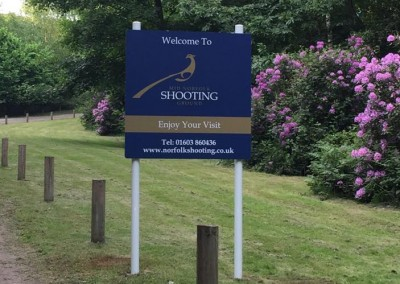 Mid Norfolk Shooting Ground June 2015 Welcome Sign